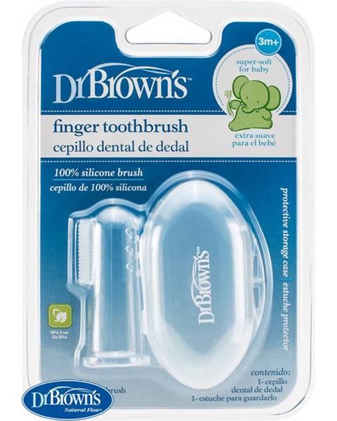 Prstová masážna zubná kefka s púzdrom
