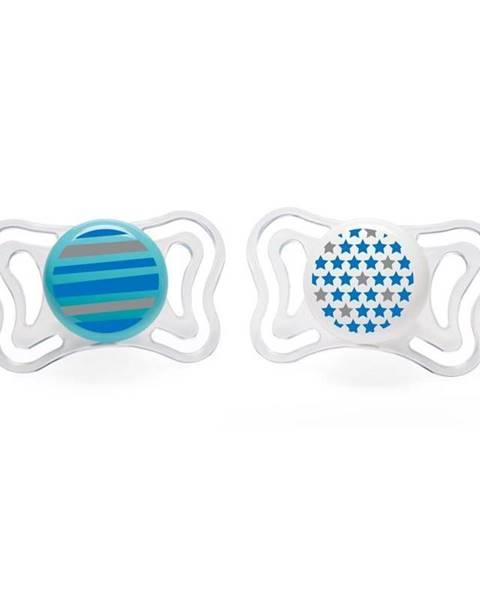 Cumlík Physio Light silikón 6-16m+, modrá 2ks