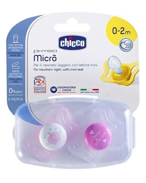 Cumlík Physio Micro, silikónový, 0-2m+, ružová, 2ks