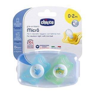 Cumlík Physio Micro, silikónový, 0-2m+, modrá, 2ks