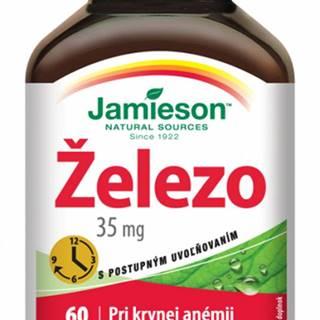 JAMIESON ŽELEZO 35 mg S POSTUPNÝM UVOĽŇOVANÍM tbl 1x60 ks