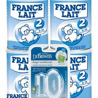 France Lait 2 + dr.browns zubná kefka