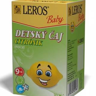 Leros Baby detskÝ Čaj citrÓnik