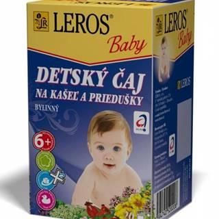 Leros baby detský čaj na kašel a priedušky