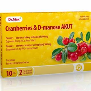Dr.Max Cranberries & D-manose AKUT