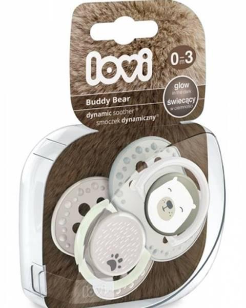 Utišujúci dynamický cumlík Lovi Buddy Bear (2ks) - A 0-3m