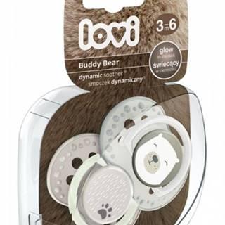 Utišujúci dynamický cumlík Lovi Buddy Bear (2ks) - B 3-6m